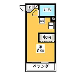 シティコア岐阜[2階]の間取り