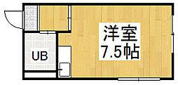 OKハイツ7号館[2階]の間取り