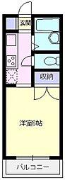 コーポコハクラ[201号室号室]の間取り