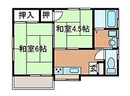 鈴木第二コーポ[2階]の間取り
