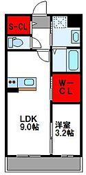 福岡市地下鉄空港線 福岡空港駅 徒歩8分の賃貸マンション 4階1LDKの間取り