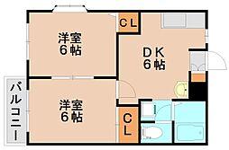 フクハイツ[2階]の間取り
