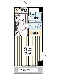 サンライズ堀江[2階]の間取り
