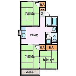 三重県四日市市松本4丁目の賃貸マンションの間取り