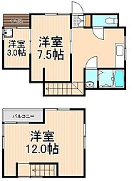 [一戸建] 東京都足立区千住東1丁目 の賃貸【/】の間取り