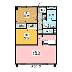 プレミール23[1階]の間取り