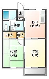 スプリング・クレインII[1階]の間取り