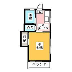 コーポアラキ[1階]の間取り