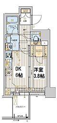 レオンコンフォート本町橋 10階1DKの間取り