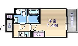 大阪府大阪市浪速区塩草3丁目の賃貸マンションの間取り