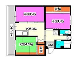 ビレッジハウス所沢II[2階]の間取り