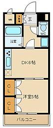 兵庫県姫路市八代宮前町の賃貸アパートの間取り