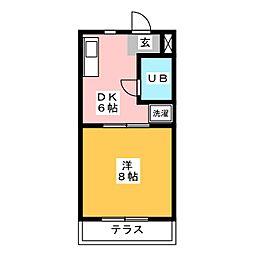 ヴィラ寺ヶ谷I[2階]の間取り