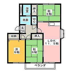 ハートホーム山本 D棟[1階]の間取り