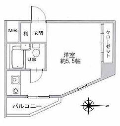 JPアパートメント東淀川区IV[4階]の間取り