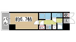 ロイヤルヒル神戸三ノ宮II[2階]の間取り