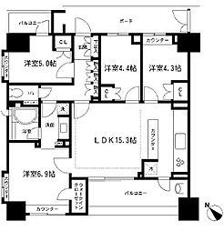 KDXレジデンス町田[12階]の間取り