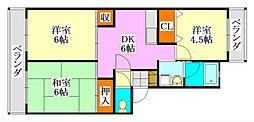 ドミール薬円台[403号室]の間取り