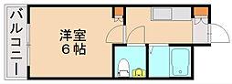 福岡県福岡市博多区那珂3丁目の賃貸アパートの間取り