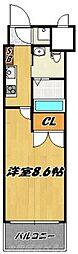 NO.65クロッシングタワー[2階]の間取り