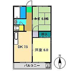 コーポスカイラーク[2階]の間取り