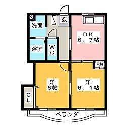 リビエールII[2階]の間取り
