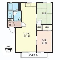 ハウスパインカウンティA[1階]の間取り