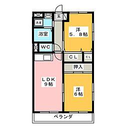 ロイヤルマンションマリエ[2階]の間取り