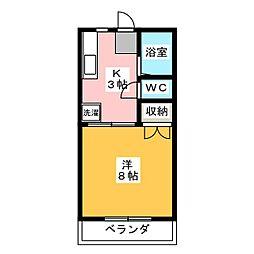 サンハイム[2階]の間取り