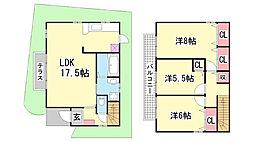 [一戸建] 兵庫県神戸市北区谷上南町 の賃貸【/】の間取り