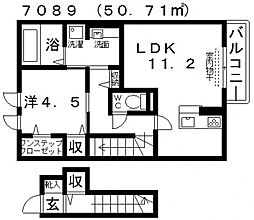 清友ハウス[201号室号室]の間取り