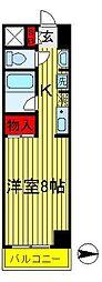 高野山第一ビル[504号室]の間取り