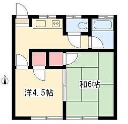 大矢アパート[6号号室]の間取り