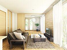 (リビングイメージ)床暖房付で1年中過ごしやすい空間です。(一部オプション工事含みます。)