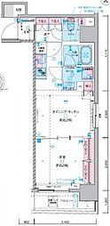 ジェノヴィア東神田グリーンヴェール 9階1DKの間取り