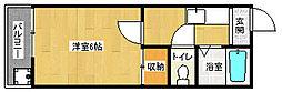 京都府京都市伏見区深草谷口町の賃貸アパートの間取り