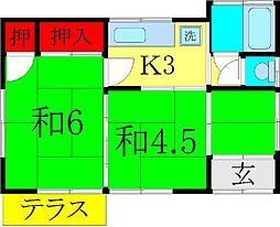[一戸建] 埼玉県越谷市神明町1丁目 の賃貸【/】の間取り