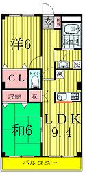 千葉県我孫子市南新木3丁目の賃貸アパートの間取り