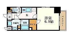 名古屋市営名城線 久屋大通駅 徒歩6分の賃貸マンション 5階1Kの間取り