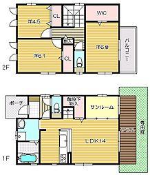 [一戸建] 大阪府茨木市庄1丁目 の賃貸【/】の間取り