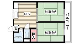 住吉マンション[3B号室]の間取り