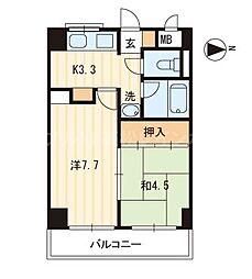 香川県高松市井口町の賃貸マンションの間取り