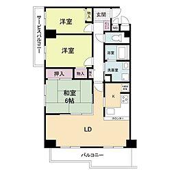 フォレステージュ武庫之荘[6階]の間取り