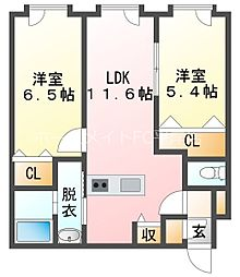 中の島駅 7.4万円
