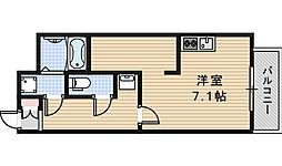 JR阪和線 我孫子町駅 徒歩1分の賃貸マンション 5階ワンルームの間取り