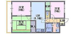 モアライフ酒井松[1階]の間取り
