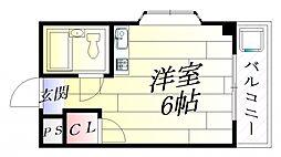 ラメール千里[3階]の間取り
