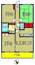 フォレストヴィラ船戸[104号室]の間取り