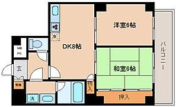 兵庫県神戸市兵庫区永沢町2丁目の賃貸アパートの間取り