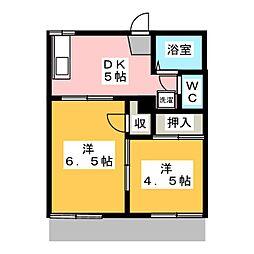 コーポ山陽 B棟[1階]の間取り